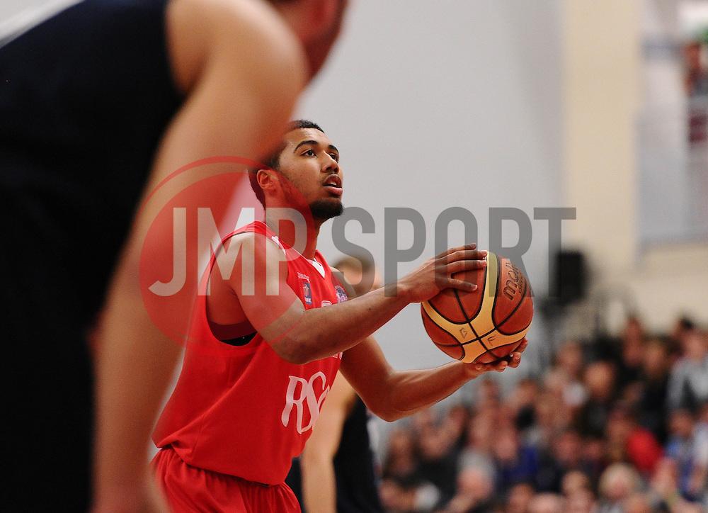Bristol Flyers' Dwayne Lautier-Ogunleye  - Photo mandatory by-line: Joe Meredith/JMP - Mobile: 07966 386802 - 11/04/2015 - SPORT - Basketball - Bristol - SGS Wise Campus - Bristol Flyers v Glasgow Rocks - British Basketball League