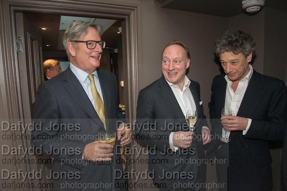 DOMINIC LAWSON; ANDREW ROBERTS,; ADAM ZAMOYSKI,  The inaugural Cliveden Literary Festival announcement. Cadogan Gardens. London. 15 May 2017