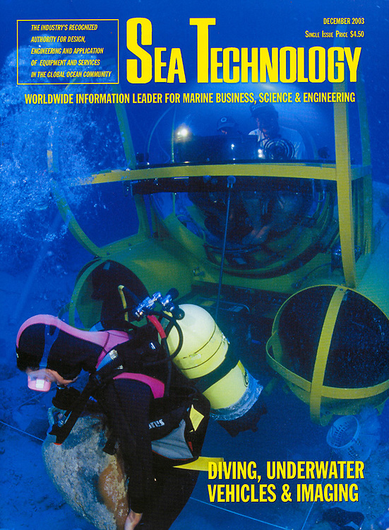 Sea Technology Magazine cover shot of Tektas Burnu shipwreck excavation by National Geographic photographer, Courtney Platt.