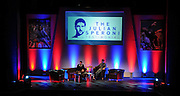 Julian Speroni answers questions from the fans duringThe gloves are off. An Evening With Julian Speroni at  at Fairfields Hall, Croydon, United Kingdom on 20 January 2015. Photo by Michael Hulf.