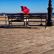 The Coney Island boardwalk, Brooklyn, New York