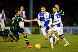 Billy Bodin of Bristol Rovers passes Joe Wright - Mandatory by-line: Dougie Allward/JMP - 23/12/2017 - FOOTBALL - Memorial Stadium - Bristol, England - Bristol Rovers v Doncaster Rovers - Skt Bet League One