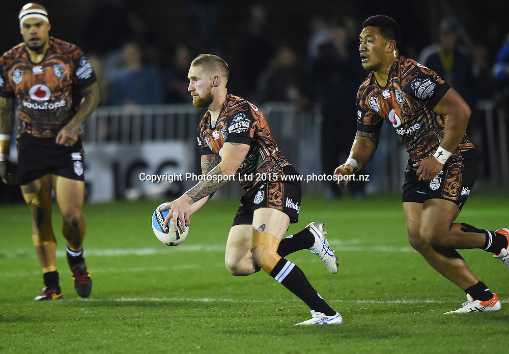 Sam Tomkins during the NRL Rugby League match between the Vodafone Warriors and The Manly Sea Eagles at Mt Smart Stadium, Auckland, New Zealand. Saturday 25 July 2015. Copyright Photo: Andrew Cornaga / www.Photosport.nz