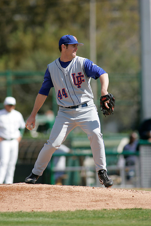 University of Florida pitcher Bryan Ball in action during the Gators 2-1 victory over the Miami Hurricanes on February 17, 2006 at Mark Light Field in Coral Gables, Florida.