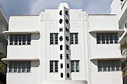 Congress Hotel art deco architecture on Ocean Drive, South Beach, Miami, Florida, United States of America