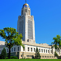 Nebraska State Capitol Building in Lincoln, Nebraska<br />
