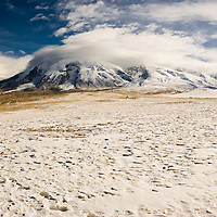 Snow capped mountain from the Pamirs plateau, Tashkurgan County, Xinjiang, China