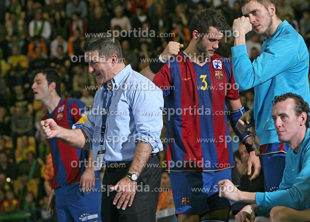 Coach of Barcelona Manuel Manolo Cadenas at handball match RK Celje Pivovarna Lasko vs FC Barcelona (ESP) 4th group of EHF Champions league Men, on March 1, 2008 in Celje, Slovenia. Win of Barcelona 27:32. (Photo by Vid Ponikvar / Sportal Images)