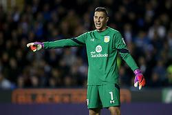 Pierluigi Gollini of Aston Villa shouts orders to his defence - Mandatory by-line: Jason Brown/JMP - 18/10/2016 - FOOTBALL - Madejski Stadium - Reading, England - Reading v Aston Villa - Sky Bet Championship