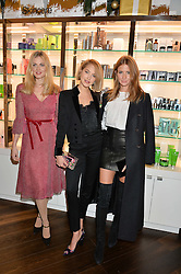 Left to right, DONNA AIR, TESS WARD and MILLIE MACKINTOSH at the launch of the Space NK Global Flagship store at 285-287 Regent Street, London on 10th November 2016.