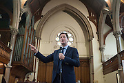 © Licensed to London News Pictures. 20/05/2014. Oxford, UK Deputy Prime Minister and Leader of the Liberal Democrsts, Nick Clegg, holds a question and answer session as part of his 2014 European and Local Election tour with members of the public at Wesley Memorial Church in Oxford today 20th May 2014. Photo credit : Stephen Simpson/LNP