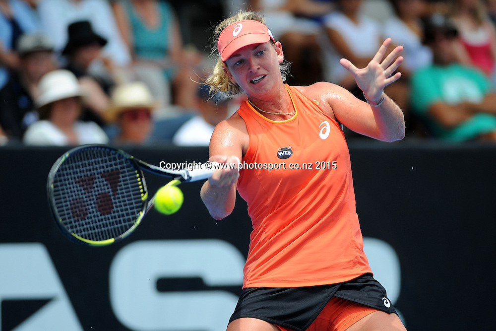 CoCo Vandeweghe of the USA during Quarter Finals of the ASB Classic Women's International. ASB Tennis Centre, Auckland, New Zealand. Thursday 8 January 2015. Copyright photo: Chris Symes/www.photosport.co.nz