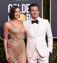 January 6, 2019 - Beverly Hills, California, United States of America - Golden Globe nominee Bradley Cooper and Irina Shayk attend the 76th Annual Golden Globe Awards at the Beverly Hilton in Beverly Hills, California on  Sunday, January 6, 2019. HFPA/POOL/PI. (Credit Image: © Prensa Internacional via ZUMA Wire)