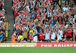 Olivier Giroud of Arsenal celebrates  - Mandatory by-line: Joe Meredith/JMP - 25/07/2015 - SPORT - FOOTBALL - London,England - Emirates Stadium - Arsenal v Lyon - Emirates Cup