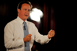 Leader of the Conservative Party David Cameron during a Cameron Direct in Halifax  while on a 3 day tour of Yorkshire and the North West of England, Wednesday  August 19, 2009. Photo By Andrew Parsons / i-Images.