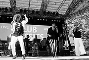 Alfa Anderson, Norma Jean Wright and Luci Martin perform as SummerStage presents Club Classics Live at Rumsey Playfield in Central Park in New York City, New York on June 28, 2014.