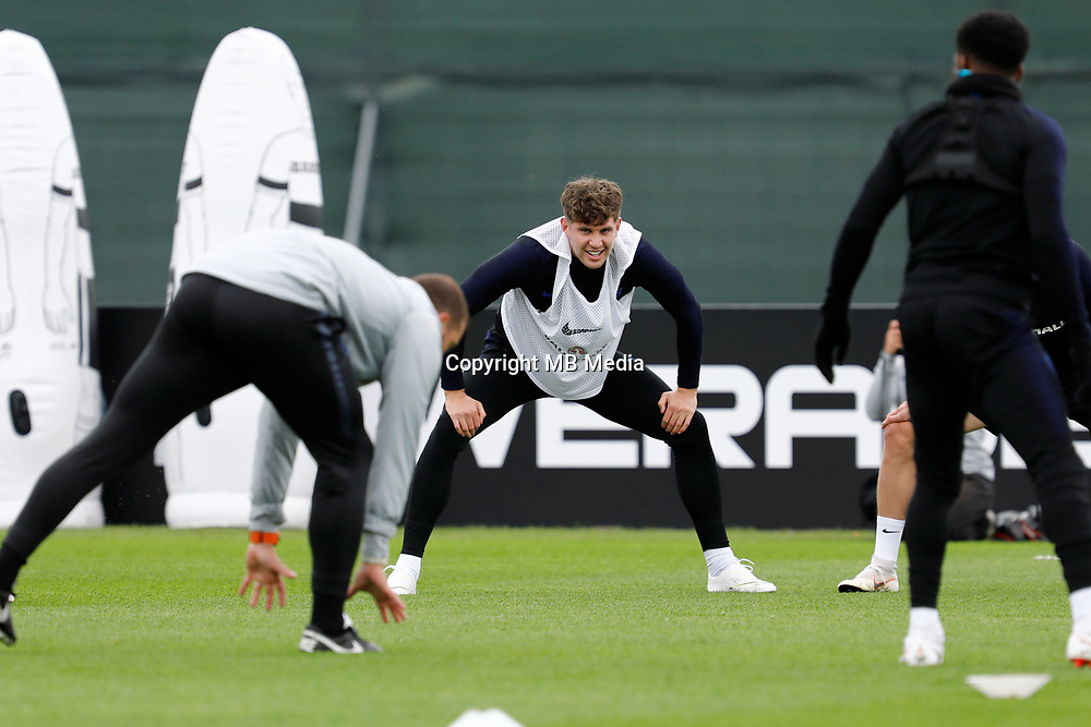 SAINT PETERSBURG, RUSSIA - JULY 10: John Stones (C) of England national team during an Englang national team training session ahead of the 2018 FIFA World Cup Russia Semi Final match against Croatia at Stadium Spartak Zelenogorsk on July 10, 2018 in Saint Petersburg, Russia. (MB Media)