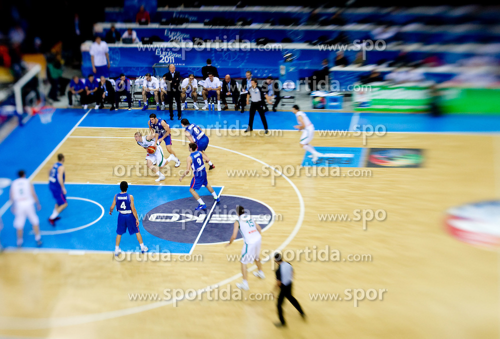 Edo Muric of Slovenia during basketball game between National basketball teams of Slovenia and Serbia in 7th place game of FIBA Europe Eurobasket Lithuania 2011, on September 17, 2011, in Arena Zalgirio, Kaunas, Lithuania. Slovenia defeated Serbia 72 - 68 and placed 7th. (Photo by Vid Ponikvar / Sportida)