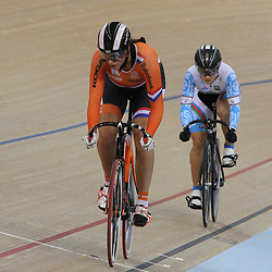 07-12-2014: Wielrennen: WB baan: Londen<br /> Elis Ligtlee was de snel in de sprintkwalificatie