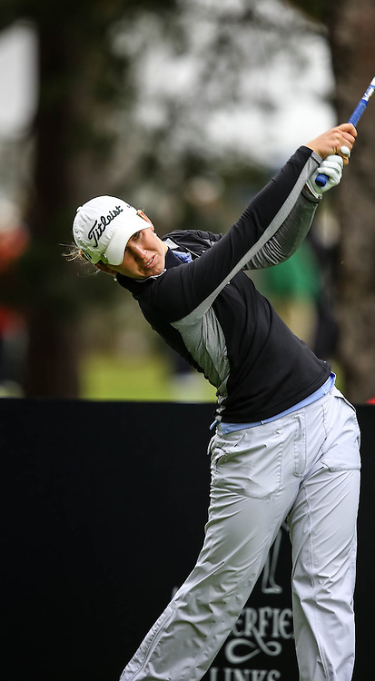 Sally Watson (Scotland) hits her tee shot at the 10th hole. Aberdeen Asset Management Ladies Scottish Open (c) [Neil Bain] | SportPixPix.org.uk