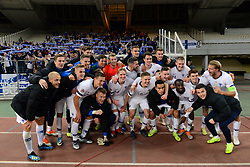 November 16, 2018 - Athens, Attiki, Greece - Commemorative photo of Finland National football team, at the end of the match. (Credit Image: © Dimitrios Karvountzis/Pacific Press via ZUMA Wire)