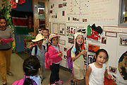 Students celebrated the first day of the International Expo by wearing crazy hats.