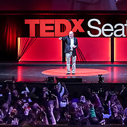Tall Order TEDx Seattle 2018. Guy Nelson (KUOW). Photo by Alabastro Photography.