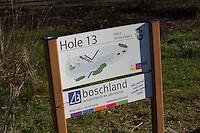 LOCHEM - holebord Lochemse golfclub de Graafschap in de winter. COPYRIGHT KOEN SUYK
