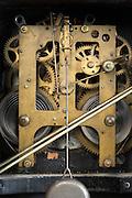 inside of an antique clockwork