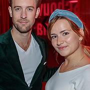 NLD/Amstelveen/20180924 - Toneelstuk Kunst & Kitsch premiere, Barbara Sloesen en partner ...........