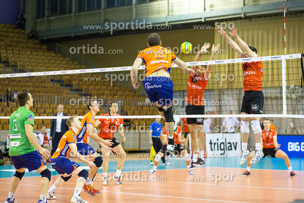 Eric Mochalski of ACH Volley during volleyball match between ACH Volley Ljubljana and Asseco Resovia Rzeszow in 2nd Round of CEV Champions League, on November 19, 2014 in Hala Tivoli, Ljubljana, Slovenia. Photo by Matic Klansek Velej / Sportida