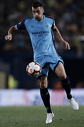 August 31, 2018 - Vila-Real, Castellon, Spain - Alex Granell Nogue of Girona FC controls the ball during the La Liga match between Villarreal CF and Girona FC at Estadio de la Ceramica on August 31, 2018 in Vila-real, Spain  (Credit Image: © David Aliaga/NurPhoto/ZUMA Press)