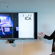 APRIL 25, 2018--MIAMI, FLORIDA<br /> Tommy Pace, from the ICA Miami, during his presentation as part of Arts and Technology exploration of new ways to connect people to art, at the Perez Art Museum Miami.<br /> (PHOTO BY ANGELVALENTIN/FREELANCE)