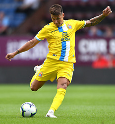 "Espanyol's Hernan Perez has a shot at goal during the pre-season friendly match at Turf Moor, Burnley. PRESS ASSOCIATION Photo. Picture date: Sunday August 5, 2018. See PA story SOCCER Burnley. Photo credit should read: Anthony Devlin/PA Wire. RESTRICTIONS: EDITORIAL USE ONLY No use with unauthorised audio, video, data, fixture lists, club/league logos or ""live"" services. Online in-match use limited to 75 images, no video emulation. No use in betting, games or single club/league/player publications."