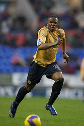 Wigan, England - Sunday, January 21, 2007: Everton's Victor Anichebe in action against Wigan Athletic during the Premier League match at the JJB Stadium. (Pic by David Rawcliffe/Propaganda)