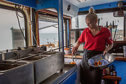 The Big Greek Bus team. Folkestone Harbour Arm, Folkestone, Kent. © AndyAitchison.uk
