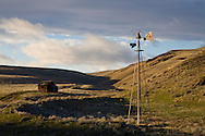settlers homestead on eastern Oregon ranch land with windmill