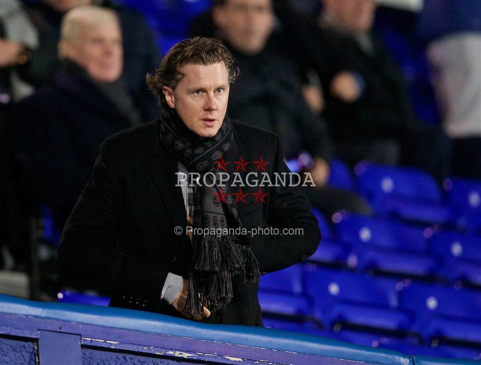 BIRKENHEAD, ENGLAND - Friday, March 11, 2016: Former Liverpool player Steve McManaman during the Under-21 FA Premier League match against Manchester United at Prenton Park. (Pic by David Rawcliffe/Propaganda)