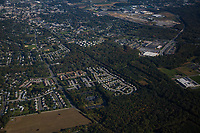 Aerial view of the The Retreat at Newark, commercial student housing property located at 501 Hamlet Way, Newark, DE 19711.<br />