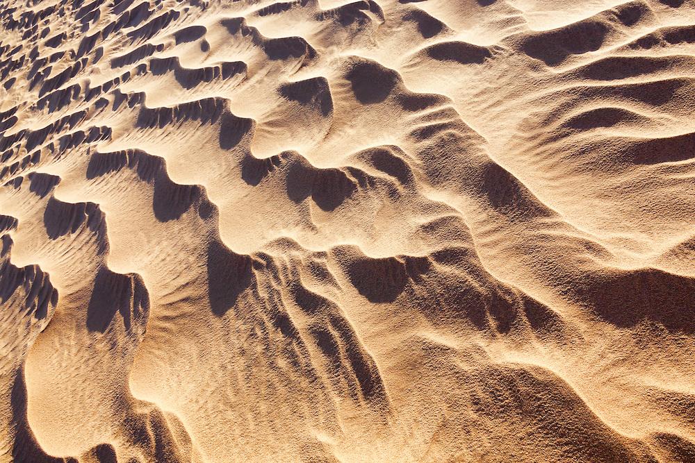 Sand pattern in the Sahara desert of Morocco.