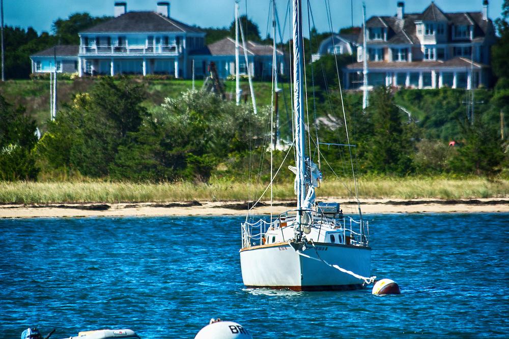 A perfect Martha's Vineyard day in early September - Edgartown Harbor Edgartown, Massachusetts