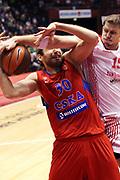 DESCRIZIONE : Milano Eurolega 2010-11 Armani Jeans Milano CSKA Mosca<br /> GIOCATORE : Dmitry Sokolov Marius Petravicius<br /> SQUADRA : CSKA Mosca Armani Jeans Milano<br /> EVENTO : Eurolega 2010-2011<br /> GARA :  Armani Jeans Milano CSKA Mosca<br /> DATA : 24/11/2010<br /> CATEGORIA : Rimbalzo Stoppata<br /> SPORT : Pallacanestro <br /> AUTORE : Agenzia Ciamillo-Castoria/G.Cottini<br /> Galleria : Eurolega 2010-2011<br /> Fotonotizia : Milano Eurolega Euroleague 2010-11 Armani Jeans Milano CSKA Mosca<br /> Predefinita :