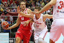 September 17, 2018 - Gdansk, Poland - Bogdan Bogdanovic (44) of Croatia in action agaisnt Adam Waczynski (12) of Poland  is seen in Gdansk, Poland on 17 September 2018  Poland faces Croatia during the Basketball World Cup China 2019 Qualifiers game in the ERGO Arena sports hall in Gdansk  (Credit Image: © Michal Fludra/NurPhoto/ZUMA Press)