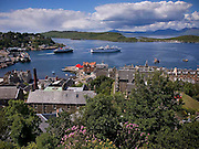 Oban Bay as seen from McCaigs tower, Argyll