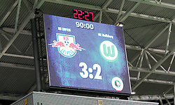29.07.2011, Red Bull Arena, Leipzig, GER, DFB 1. Pokalrunde, RB Leipzig vs VFL Wolfsburg, im Bild.Endstand 3:2 nach 90 Minuten , Wolfsburg ist aus dem DFB-Pokal ausgeschieden / Anzeigetafel .// during the Pokal fight first Round from GER, Leipzig vs VFL Wolfsburg on 2011/07/29, Red Bull Arena, Leipzig, Germany..EXPA Pictures © 2011, PhotoCredit: EXPA/ nph/  Hessland       ****** out of GER / CRO  / BEL ******
