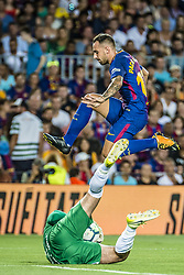 August 7, 2017 - Barcelona, Catalonia, Spain - FC Barcelona forward PACO ALCACER during the Joan Gamper Trophy between FC Barcelona and Chapecoense at the Camp Nou stadium in Barcelona (Credit Image: © Matthias Oesterle via ZUMA Wire)