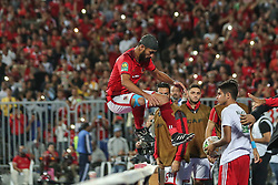 November 2, 2018 - Alexandria, Egypt - Walid Soliman celebrate after scoring The second goal during their first leg of Final African Champions League CAF match Between Al Ahly and Esperance de Tunis at Borg Al Arab Stadium, on 2 November, 2018. (Credit Image: © Ahmed Awaad/NurPhoto via ZUMA Press)