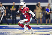 ARLINGTON, TX - AUGUST 26:  Budda Baker #36 of the Arizona Cardinals returns a intercepted pass from the end zone during a game against the Dallas Cowboys at AT&T Stadium during week 3 of the preseason on August 26, 2018 in Arlington, Texas.  The Cardinals defeated the Cowboys 27-3.  (Photo by Wesley Hitt/Getty Images) *** Local Caption *** Budda Baker