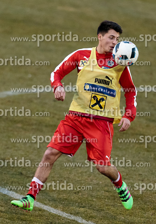 22.03.2016, Sportzentrum, Stegersbach, AUT, OeFB Training, im Bild Alessandro Schoepf (AUT) // Alessandro Schoepf (AUT) during a Trainingssession of Austrian National Footballteam at the Sportcenter in Stegersbach, Austria on 2016/03/22. EXPA Pictures © 2016, PhotoCredit: EXPA/ JFK