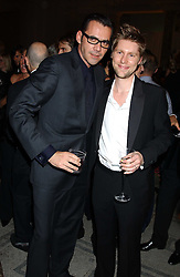 Left to right, ROLAND MOURET and CHRISTOPHER BAILEY at the 2005 British Fashion Awards held at The V&A museum, London on 10th November 2005.<br />